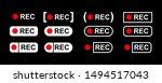 recording sign  red panel  rec. ... | Shutterstock .eps vector #1494517043