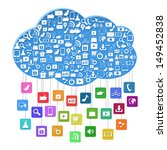 cloud computing with social... | Shutterstock . vector #149452838