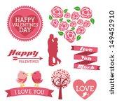 love icons over white... | Shutterstock .eps vector #149452910