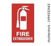 Red Fire Extinguisher Wall Sign ...