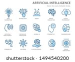 artificial intelligence line... | Shutterstock .eps vector #1494540200