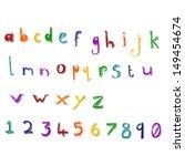retro cartoon alphabet   Shutterstock . vector #149454674