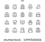 winter clothes well crafted...   Shutterstock .eps vector #1494560606