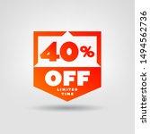 40  e commerce price tag design....   Shutterstock .eps vector #1494562736