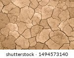 Dry Cracked Earth As A...