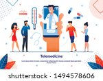 bright flyer telemedicine ... | Shutterstock .eps vector #1494578606