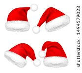 christmas santa claus hats with ...   Shutterstock .eps vector #1494579023