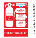 fire extinguishers appropriate... | Shutterstock .eps vector #149458508