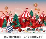christmas wonderland greetings... | Shutterstock .eps vector #1494585269
