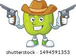 cowboy granny smith in a green...   Shutterstock .eps vector #1494591353