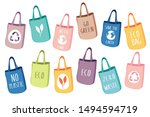 eco friendly textile and paper... | Shutterstock .eps vector #1494594719