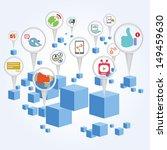 social media  social network... | Shutterstock .eps vector #149459630