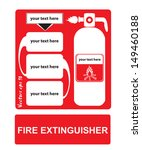 fire extinguishers appropriate... | Shutterstock .eps vector #149460188