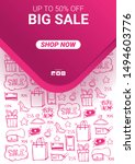 sale banner with price tag and... | Shutterstock .eps vector #1494603776