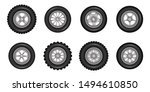 car wheels icons detailed photo ... | Shutterstock .eps vector #1494610850