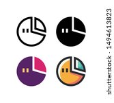 bar chart logo icon design in...