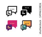 chatting logo icon design in...