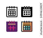 calendar logo icon design in...