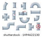 flat water pipes. different...   Shutterstock .eps vector #1494622130
