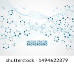 molecular structure background. ... | Shutterstock .eps vector #1494622379