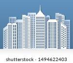 paper city skyline. urban... | Shutterstock .eps vector #1494622403