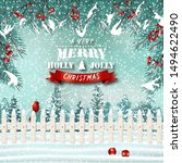 Christma Holiday Greeting Card...