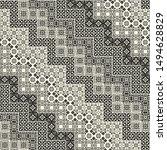 seamless patchwork in ethnic... | Shutterstock .eps vector #1494628829