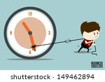 businessman dragging clockwise | Shutterstock .eps vector #149462894