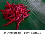 Fresh Red Chili Pepper On Gree...