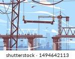 bridge construction process... | Shutterstock .eps vector #1494642113