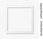 vintage realistic white blank... | Shutterstock .eps vector #1494643490