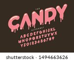 vector of stylized modern font... | Shutterstock .eps vector #1494663626