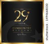 29 ekim cumhuriyet bayrami... | Shutterstock .eps vector #1494668030