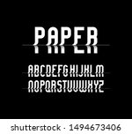 vector of stylized  font and... | Shutterstock .eps vector #1494673406