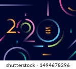 2020 happy new year abstract... | Shutterstock .eps vector #1494678296