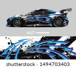car wrap graphic. abstract... | Shutterstock .eps vector #1494703403