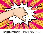 the gesture of dislike in pop... | Shutterstock .eps vector #1494707213