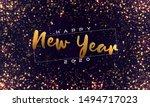 bokeh sparkle christmas 2020...   Shutterstock .eps vector #1494717023