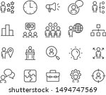 set of work icons  job  hr ... | Shutterstock .eps vector #1494747569