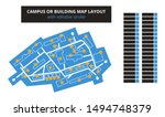 vector editable floor plan with ... | Shutterstock .eps vector #1494748379