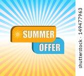 summer offer   orange and blue...   Shutterstock .eps vector #149477963