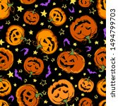 seamless pattern with festive... | Shutterstock .eps vector #1494799703