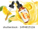 skin care vitamin c serum... | Shutterstock .eps vector #1494815126