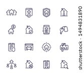 real estate line icons set ...   Shutterstock .eps vector #1494831890