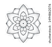 petals flower mandala line art... | Shutterstock .eps vector #1494862076
