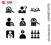 Missing Person Icon Isolated...