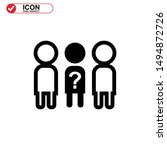 missing person icon isolated... | Shutterstock .eps vector #1494872726
