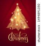 merry christmas  shining gold... | Shutterstock .eps vector #1494891350