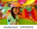 Little Girl Having Fun In A...