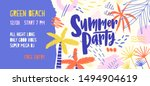 summer party vector banner... | Shutterstock .eps vector #1494904619